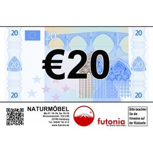 Gutschein € 20,-